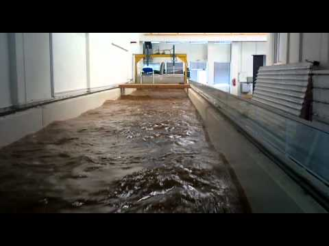 river model with fusegate at lab'' civil engineering university of patra''
