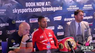 Brook says Khan is scared,  looking at Rios/winner of Bradley vs Vargas - post fight press conf.