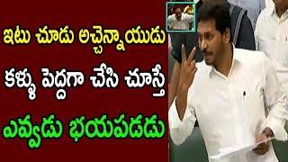 AP CM YS Jagan Warning's To Acchan Naidu At AP Assembly Budget Sessions 2019 | Cinema Politics Live