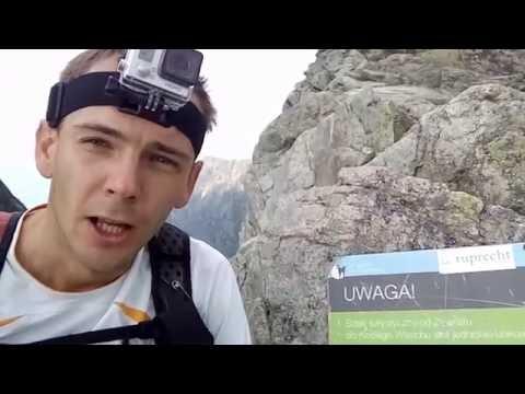 Cała Orla Perć - rekord przejścia 1:16:32 - Piotr Łobodziński Towerrunner 12.07.2016