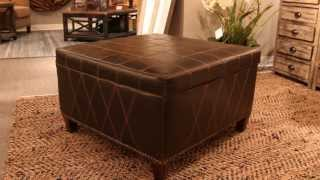 Uttermost 23005 - Faux Leather Storage Ottoman