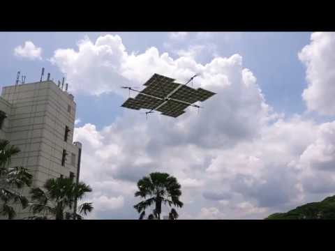 100% solar-powered quadcopter drone