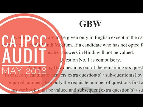 Audit and assurance May 2018 paper   CA Intermediate   Suggested Answers   Ajmer Din