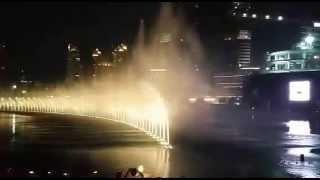 Screct water dance in Burj Khalifa tallest tower in Dubai