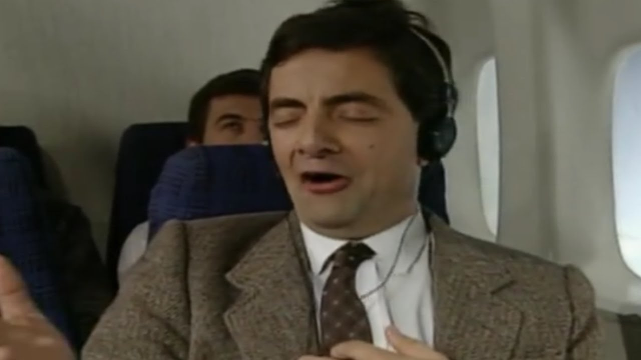 ba33e1c23 On a Plane | Funny Clip | Mr. Bean Official - YouTube