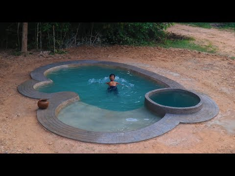 Build Beautiful Natural Backyard Swimming Pool In Forest