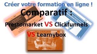 Hébergement de formation LearnyBox Vs ClickFunnels Vs Prestomarket