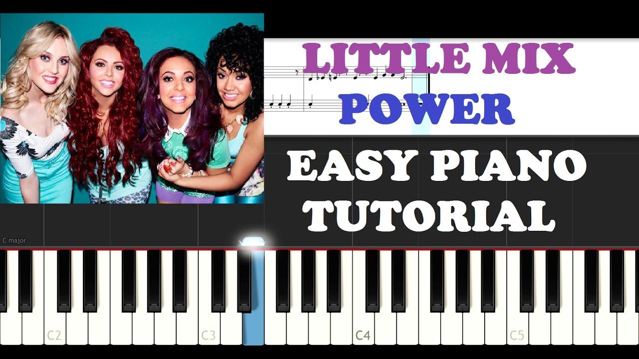 Little mix power easy piano tutorial youtube hexwebz Images