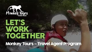 Costa Rica Monkey Tours Travel Agent Program