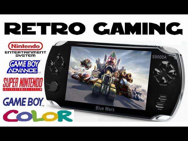 Portable Retro Console Blue Mars S9000A NES, SNES & Gameboy