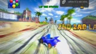 Sonic & Sega All-Stars Racing - Ocean Ruin - Sonic - EPIC ALL-STAR MOVE SHORTCUT!!! (2:33:538 3-Lap)