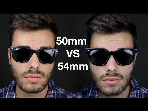 dccbea0766 Ray-Ban Wayfarer 50mm vs 54mm - YouTube