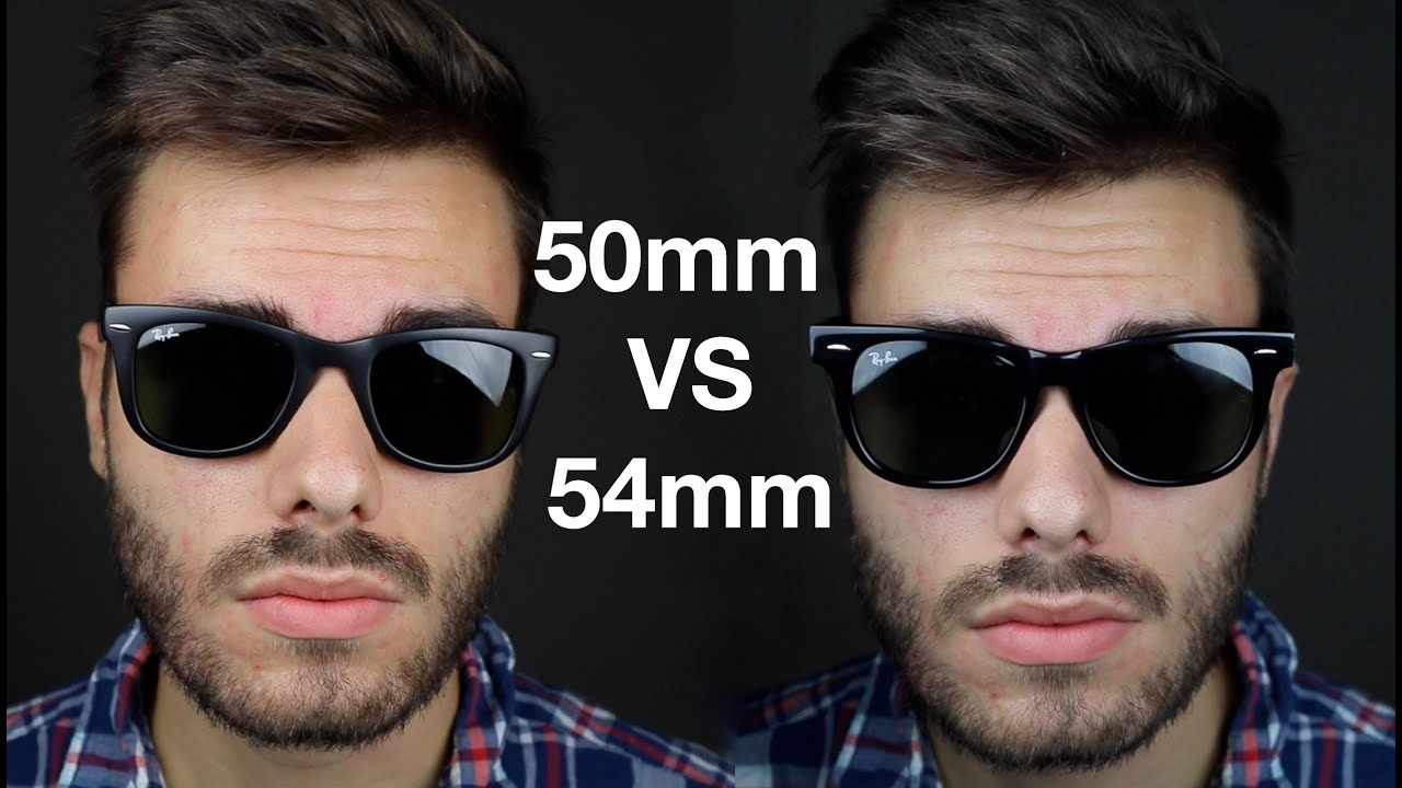 87d3ba46e58 Ray-Ban Wayfarer 50mm vs 54mm - YouTube
