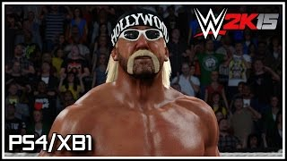 WWE 2K15 PS4/XB1 - nWo Hollywood Hogan Entrance, Finisher & Winning Animation! (Hulkamania Edition)