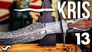 KRIS BLADE DAMASCUS DAGGER!!! Part 13 (FINISHED!!!)