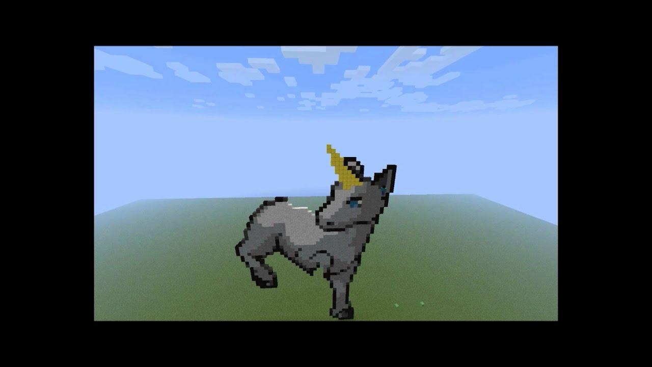 Dabbing Unicorn Pixel Art Minecraft