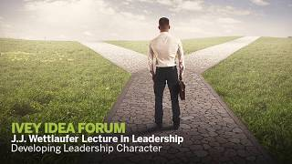 Thumbnail J.J. Wettlaufer Lecture in Leadership - Developing Leadership Character