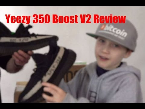 4b43c2fc1ea2b Adidas Yeezy Boost 350 V2 Core Black White Unboxing - YouTube