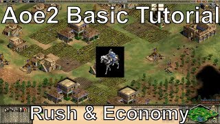Aoe2 HD: Tutorial: Fast Castle Age, Knight Rush, Economic Boom