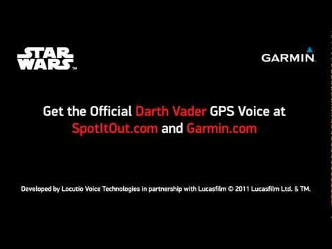 Star Wars - Darth Vader Premium GPS Voice For Garmin GPS Devices
