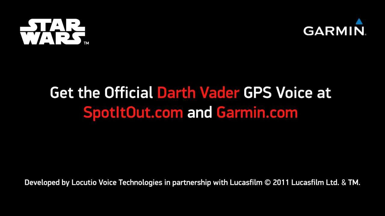With Vader and Yoda, Garmin's custom voices are a Force to behold