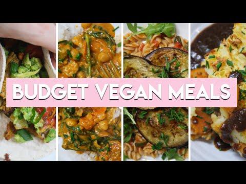 4 BUDGET VEGAN MEALS UNDER £2 | Low FODMAP recipes + Gluten free