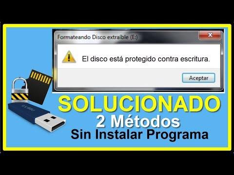 El Disco Está PROTEGIDO Contra ESCRITURA│Como QUITAR Protección Contra Escritura USB Y Micro SD