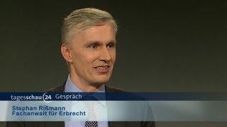 Interview mit Fachanwalt Stephan Rißmann zum Erbrecht auf tagesschau24