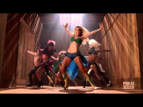 GLEE  Brittany as Britney Spears  I'm a Slave 4 U  S02E02: