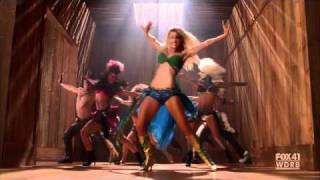 "GLEE - Brittany as Britney Spears - I'm a Slave 4 U - S02E02: ""Britney/Brittany"" [HD] thumbnail"