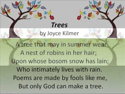 Trees by Joyce Kilmer,  Song composed by Oscar Rasbach, Arrangement by Garth Kayster