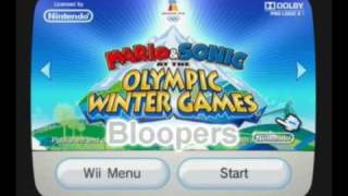 Mario & Sonic at the Olympic WINTER Games Bloopers: Cold Play {Part I}