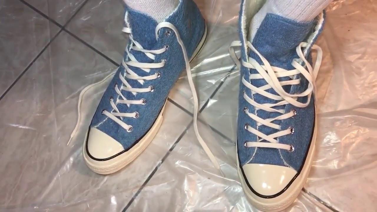6a781f94174a Converse Chuck Taylor AllStar  70 Fuzzy Bunny High Top(Blue)On feet Action