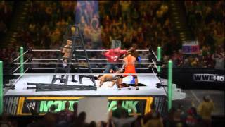 WWE 12 Gameplay: MITB - Brock Lesnar, Christian, Kofi Kingston, Daniel Bryan, Michael Cole & J.R. thumbnail
