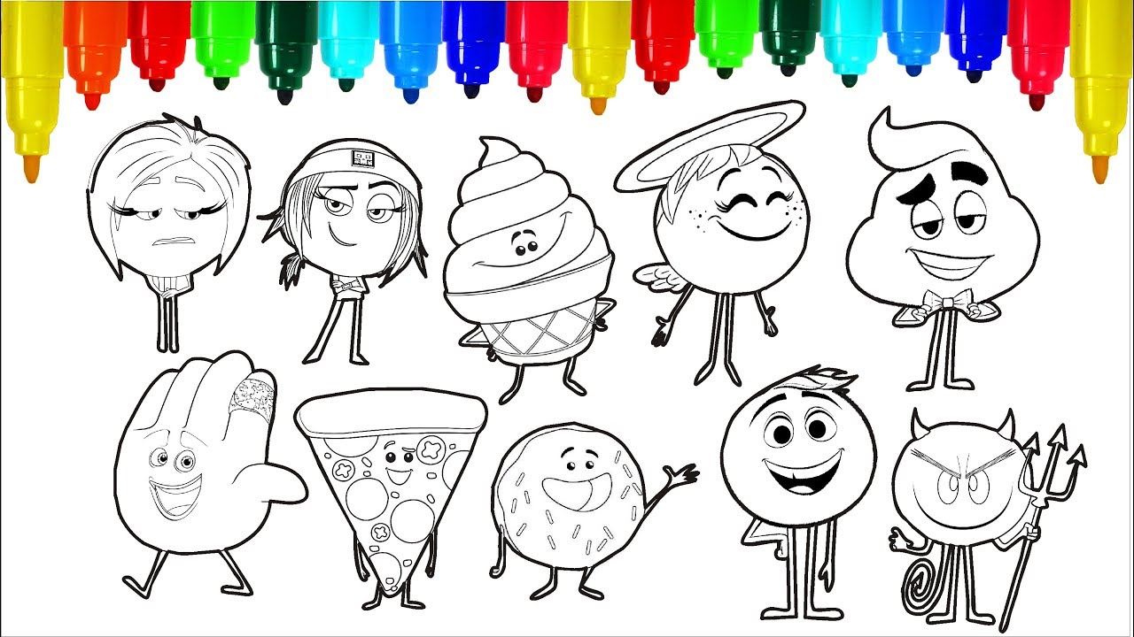 The Emoji Movie Coloring Pages | Colouring Pages for Kids with ...
