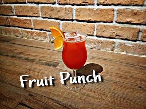 วิธีทำม็อกเทล Fruit Punch
