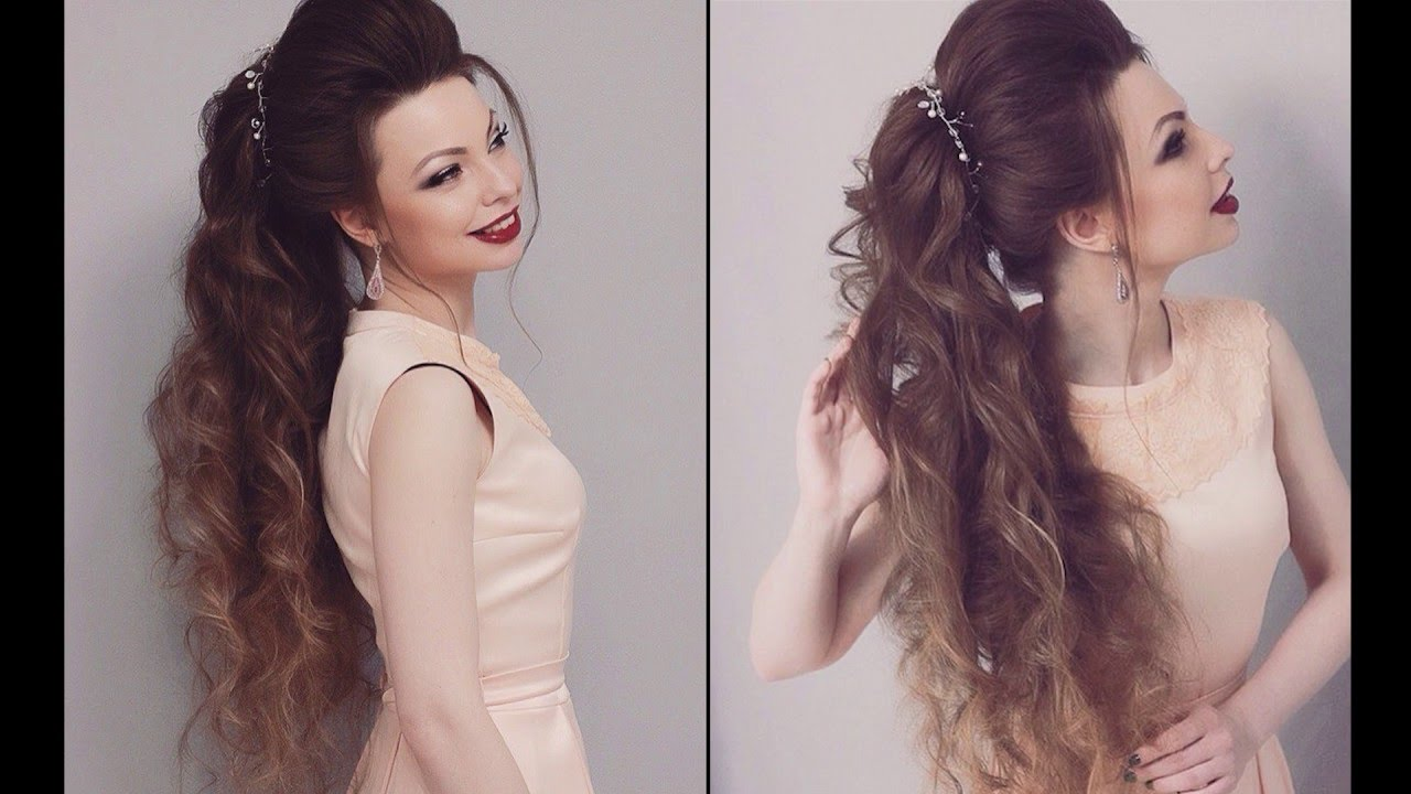 Long hair: haircuts, styling, wedding and evening hairstyles 80