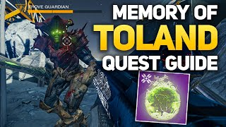 Trove Guardian Location & Memory of Toland Complete Quest - Destiny 2 Shadowkeep