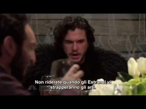 SUB-ITA: Seth Meyers porta Jon Snow a cena
