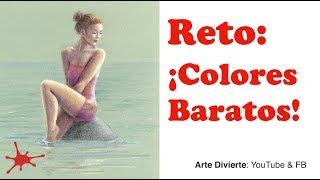 Reto: Dibujar con lápices de colores baratos - Una mujer
