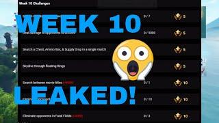 Week 10 Challenges Leaked! Fortnite Battle Royal
