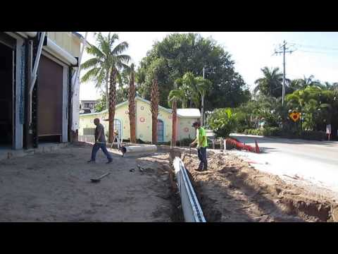 Slot Drain Installation for Honc Contractors Captiva Island Fire Station