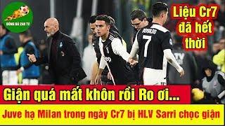 Juventus hạ Milan trong ngày Ronaldo bị HLV Sarri chọc giận - Quả Bóng Vàng 2019