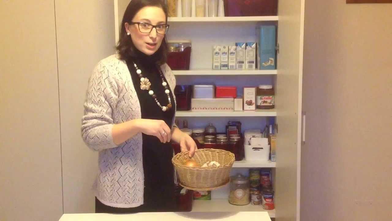 Organizzo casa la dispensa youtube - Organizzare la casa ...
