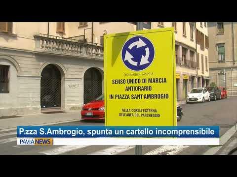 Vigevano, piazza Sant'Ambrogio: spunta il cartello incomprensibile e primi disagi