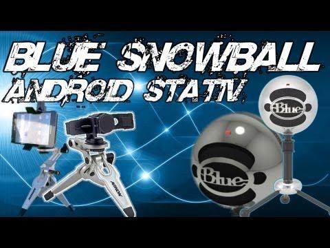 VI UNBOXER OG TESTER: BLUE SNOWBALL  / IUDSTYR ANDROID STATIV