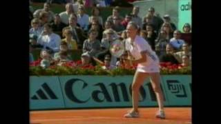 1999 French open Tennis Steffi Graf vs Martina Hingis 3rd Set and Ceremony