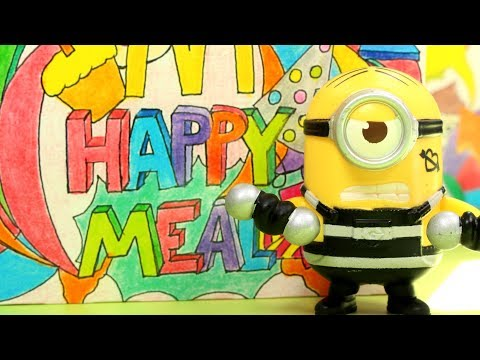 Happy Meal Minionki • Gru Dru i Minionki • zabawki z McDonalda 2017