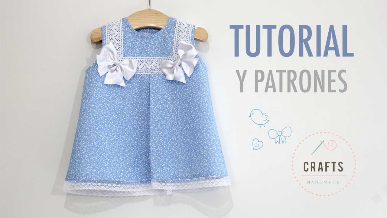 753b59c52 DIY Costura: Como hacer vestido para niñas con lazos (patrones gratis)