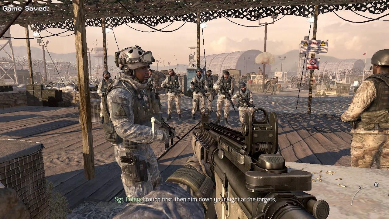 Call Of Duty Modern Warfare 2 Training Mode Gameplay Video